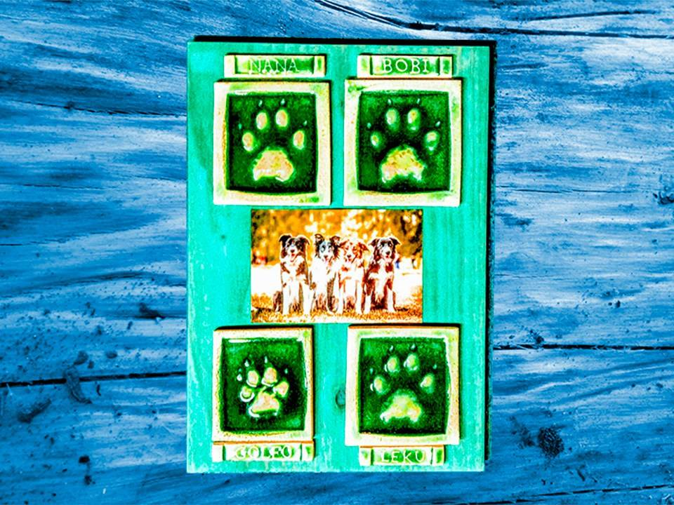 Las huellas de tus perros en cerámica