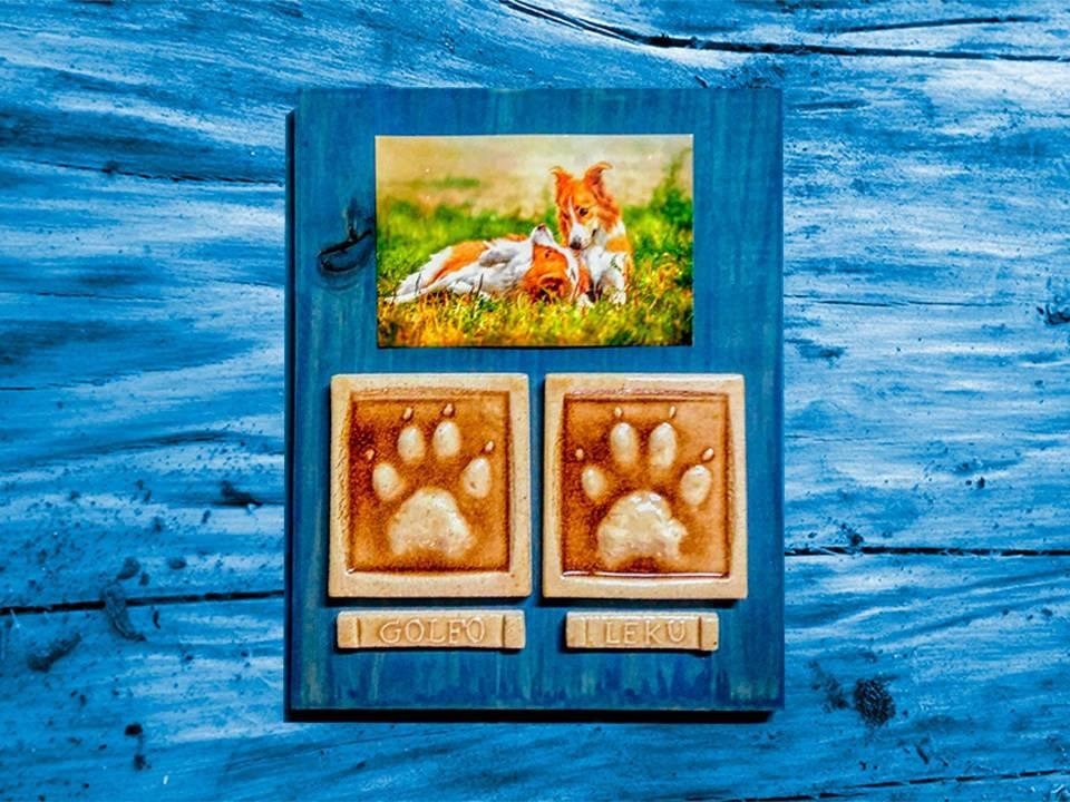 huellas mascotas artesanía regalo