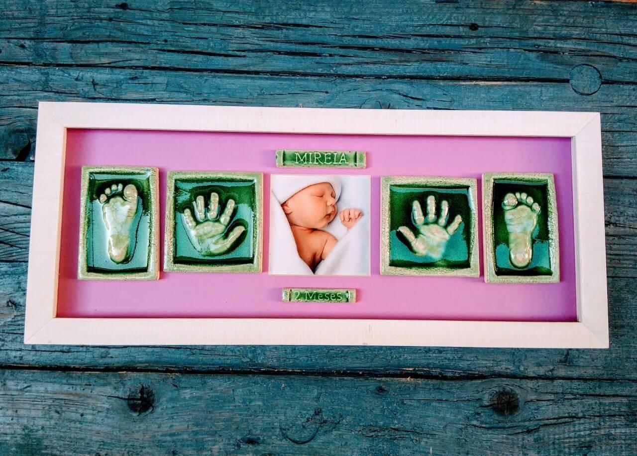 huellas manos y pies bebe ceramica