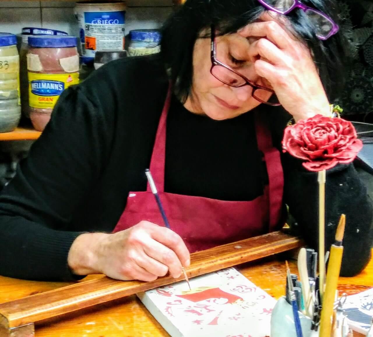 Marisa Alvarez, ceramista artesana en huellasdebebes