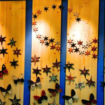 mural estrellas cerámica decoración