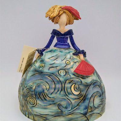 Menina ceramica noche estrellada