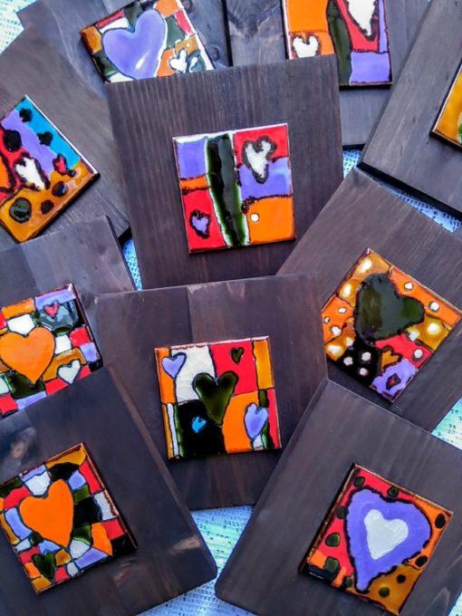 serie corazones ceramicos